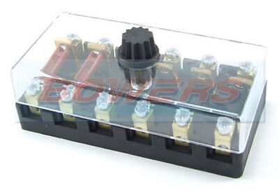 6V 12V 24V Volt 6 Way Ceramic Torpedo Continental Fuse Box Holder Classic Car