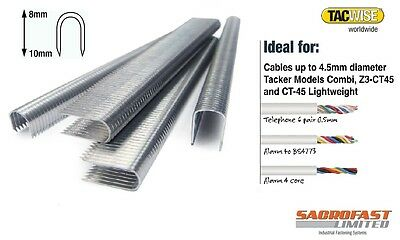 Tacwise Ct45 Cable Tacker Staples - 8-10Mm Box 1,000