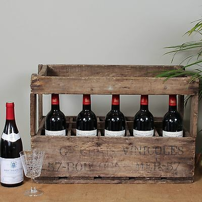 Vintage French Wooden Wine Crate, 1930's Vincoles