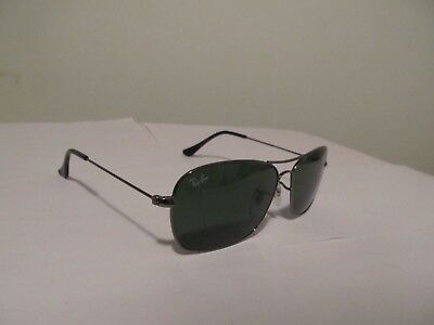 cfff8446f0 AUTHENTIC RAY-BAN RB3379 004 58 Gunmetal Green Polarized Lens 64mm ...