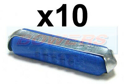 Pack Of 10 6V 12V 24V 36V Volt 25A Amp Blue Ceramic Torpedo Continental Fuses