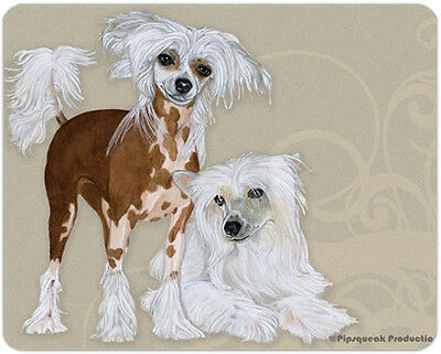 Chinese Crested Large Cutting Board