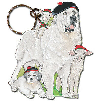 Great Pyrenees Key Ring