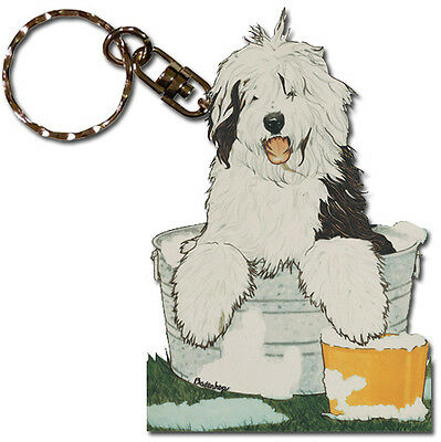 Old English Sheepdog Key Ring
