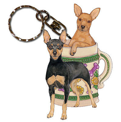 Miniature Pinscher Key Ring