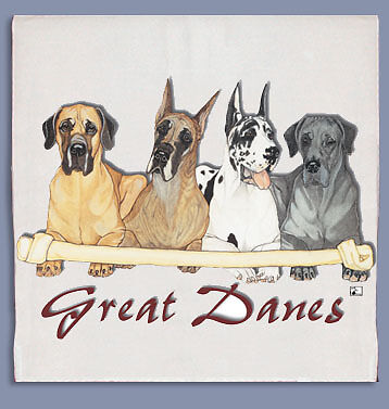 Great Dane Dish Towel