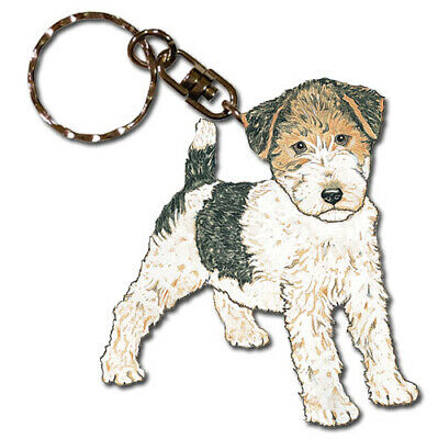 Fox Terrier Wire Key Ring