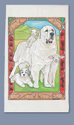 Great Pyrenees Dish Towel