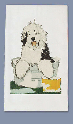 Old English Sheepdog Dish Towel