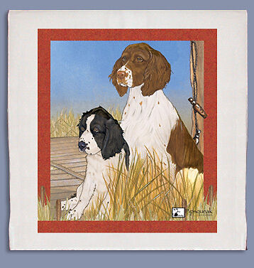 English Springer Dish Towel