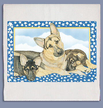 German Shepherd Dish Towel