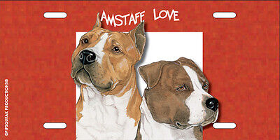 Amstaff License Plate