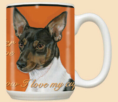 Rat Terrier Ceramic Coffee Mug Tea Cup 15 oz