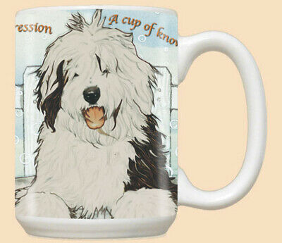 Old English Sheepdog Ceramic Coffee Mug Tea Cup 15 oz