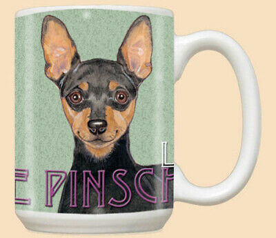 Miniature Pinscher Min Pin Dog Ceramic Coffee Mug Tea Cup 15 oz