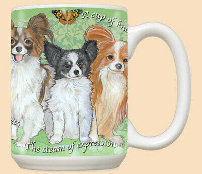 Papillon Ceramic Coffee Mug Tea Cup 15 oz