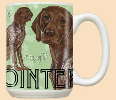 German Pointer Ceramic Coffee Mug Tea Cup 15 oz