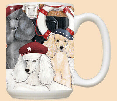 Poodle Standard Ceramic Coffee Mug Tea Cup 15 oz