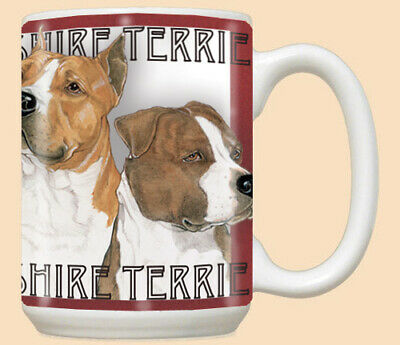 American Staffordshire Amstaff Dog Ceramic Coffee Mug Tea Cup 15 oz