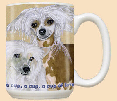 Chinese Crested Ceramic Coffee Mug Tea Cup 15 oz
