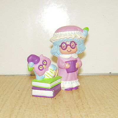 Vintage 1984 Plum Pudding Elderberry Owl Mini Figure Strawberry Shortcake