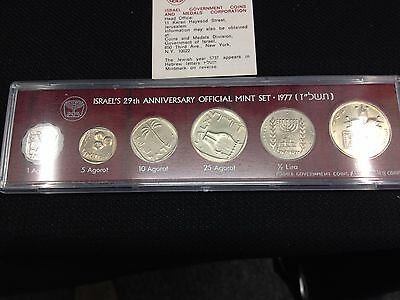 1977 Israel Mint Set - 29th Anniversary  - Free Shipping on additional sets