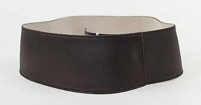 NWT $775 Brunello Cucinelli Women/'s Hammered Metallic Leather Belt Size M  A181
