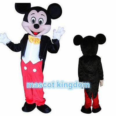 Hot Sale Cartoon Fancy Party Dress Adult Size Mickey Mouse Mascot Costume Suit