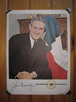 Vintage Autographed Signed Picture GOVERNOR JOHN CONNALLY Texas