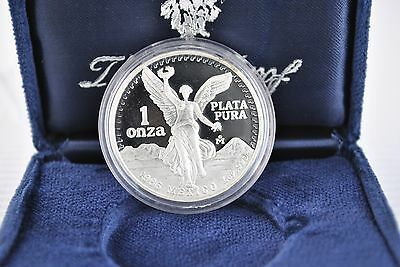 1986 1 oz Silver Mexican Libertad  Proof Coin *