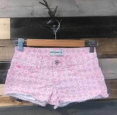 Abercrombie Girls Pink Design Shorts Size 12