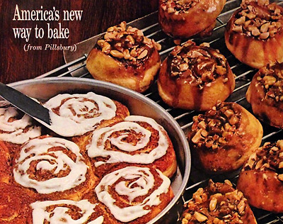 1960 Pillsbury Cinnamon & Caramel Nut Rolls Ad - Vintage Advertising Page