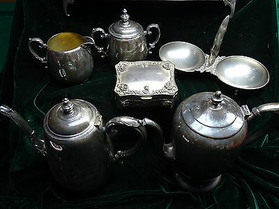 Vintage Lot-13 Pieces (Some Sterling) Silver-Creamer, Dish, Bowl, Tray, Lid, Box