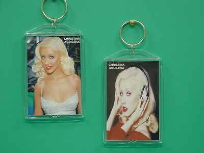 CHRISTINA AGUILERA - with 2 Photos - Designer Collectible GIFT Keychain