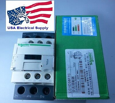 New Schneider Contactor LC1D38F7C With Coil 110VAC 50/60Hz