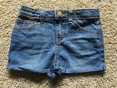 NWT Girl's Cherokee Blue Denim Shorts Small 6/6X Adjustable Waist