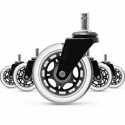 Office Chair Caster Wheels Replacement (Set of 5)Heavy Duty&Safe for All Floors