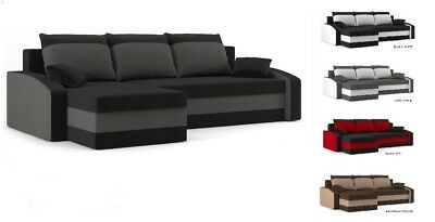 """Corner & Sofa Bed """"Hewlet"""" & pillows & storage & upgraded mattress FREE DELIVERY"""