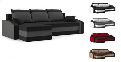 """Corner Sofa Bed """"Hewlet"""" two pillows, extra storage and upgraded mattress FREE"""