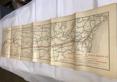 VTG. 1915 National Highways Map  Pikes Peak San Francisco To New York Route