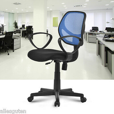 Mid-Back Adjustable Ergonomic Mesh Swivel Durable Office Desk Task Chair Blue