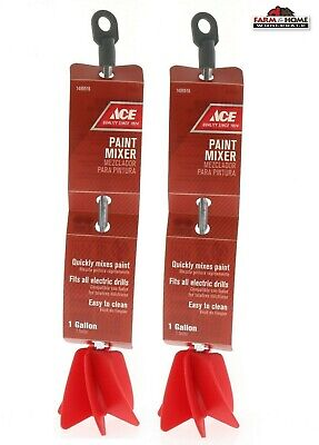 Electric Drill Paint Mixer Attachment ~ 1 Gallon Mixing ~ 2-Pack ~ Free Shipping