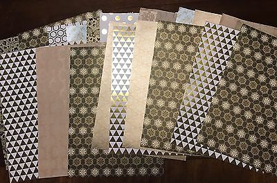 High Quality A4 Patterned Paper x20 Textured,Metallic, Flocked, Matte Gold Tones