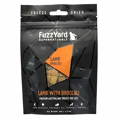 10x Fuzzyard Supernaturals Lamb & Broccoli 40G Natural Cat Kitten Treats
