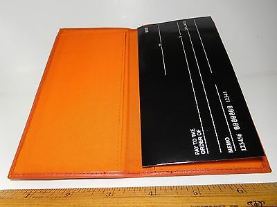 Roma Orange Basic Standard Soft Padded Leather Checkbook Cover-Fact.Seconds#3218