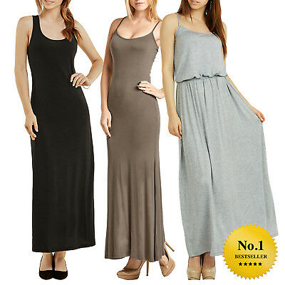 Women Ladies Summer Maxi Camisole Tank top Spaghetti Maxi dress One Piece