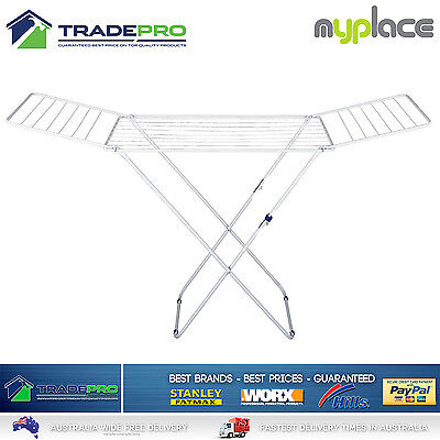 Clothes Line Airer Premium 2 Wing 15Mtr Clothesline Portable Drying Hills Style
