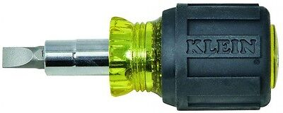 Klein Tools Stubby Multi-Bit Screwdriver Nut Driver Tempered Strong Steel Tool