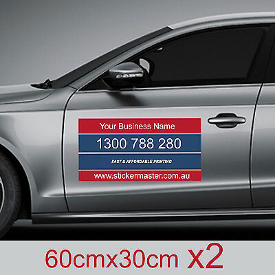 Custom Printed Removable CAR DOOR MAGNET 600mm x 300mm