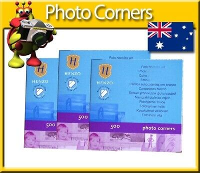 Henzo 500 Photo Corners x3 1500 Corners in Total